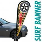 Surfbanner mit Ihrer Werbung 90x296 cm