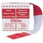 Super-Absperrband, rot/weiß, 500 m lang,