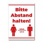 """Poster """"Abstand halten"""", DIN A1"""