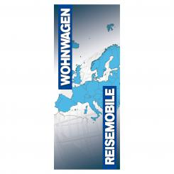 Fahne Wohnwagen & Reisemobile, 150 x 400 cm 150 x 400 cm (B x H)