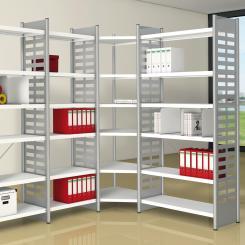 Eckfeld für Büroregal 2200 x 500 mm 2200 mm mit 5 Böden | 500 mm