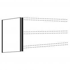 Seitenblende für Büro-Regal, 2250 x 300 mm 2250 mm | 300 mm