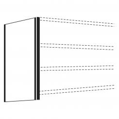 Side Panel for office shelf, 2600 x 400 mm  | 400 mm