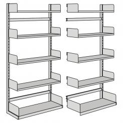 Extension Unit for free-arm shelf, one-side   