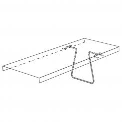 Clamping Bracket for free-arm shelf, 250 mm