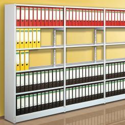Grundfeld für Leer-Regal 2600 x 960 x 300 mm 2600 mm für 8 Böden = 7 Ordnerhöhen   960 mm