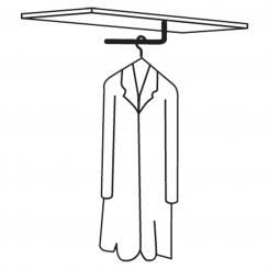 Garderobenstange für Leer-Regal, 400 mm 400 mm