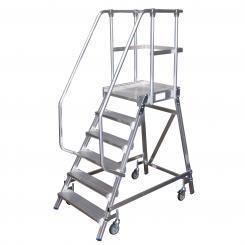 Platform Ladder, mobile, single sided access 7