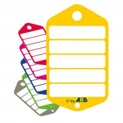 Plastic Key Tag Refill Pack (large), yellow, 100 piece yellow