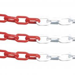 Kunststoffkette, rot/weiß rot/weiß