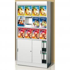 Brochure Cabinet 12 x A4 with sliding door cabinet 12x A4 Sliding door cabinet