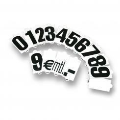 Ersatz-Wechselzahlenset für Verkaufsschilder, 14 Stück