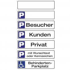 Parking Sign with your imprint with desired text or license plate