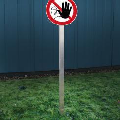 Barrier Sign, 1 m 1 m