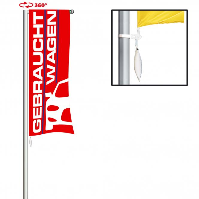 Flagpole with rotating arm | 8.80 m, 120 cm extension arm