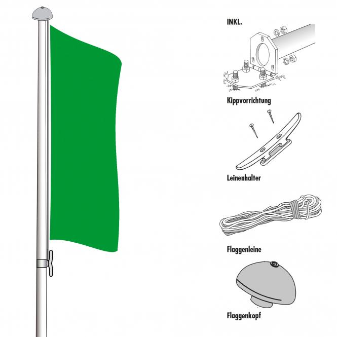 Flagpoles for outdoor use