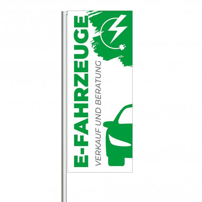 """Flag """"E-Fahrzeuge"""" green/white"""