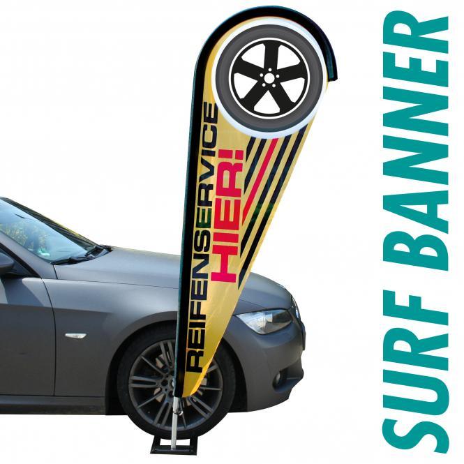 Surf Banner mit Ihrer Werbung