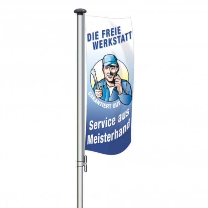 """Fahne """"Freie Werkstatt"""""""