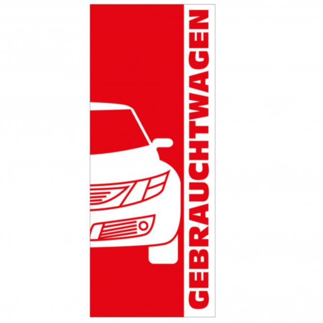 """Fahnen """"Gebrauchtwagen"""" 2-farbig"""