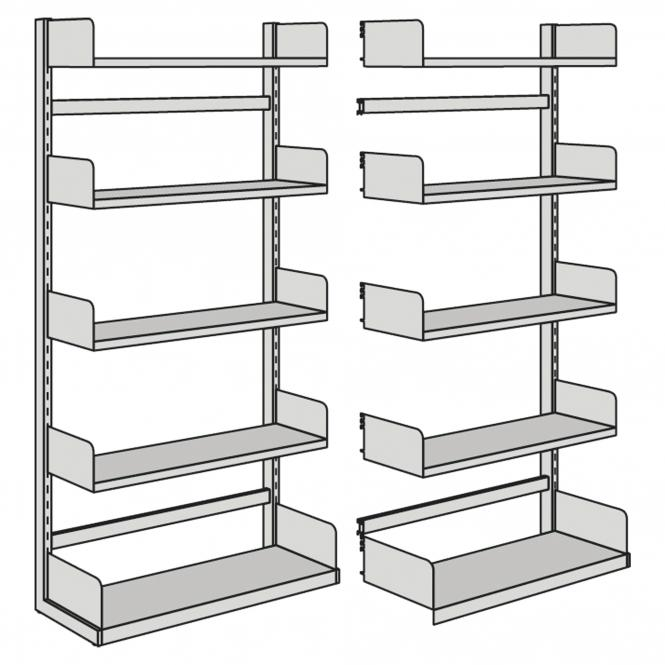 anbaufeld f r freiarm regal einseitig jetzt online kaufen im ahb shop. Black Bedroom Furniture Sets. Home Design Ideas