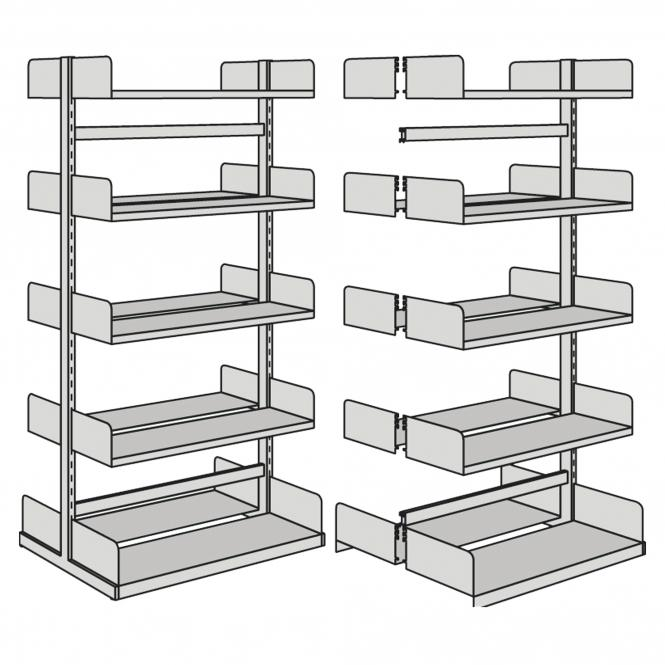 Basic Units for free-arm shelf, double-side