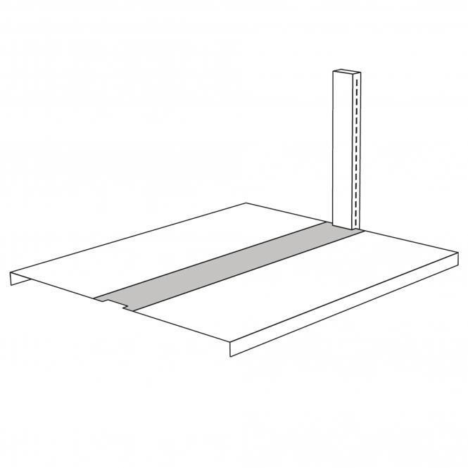 Bridging for free-arm shelf, 750 mm wide