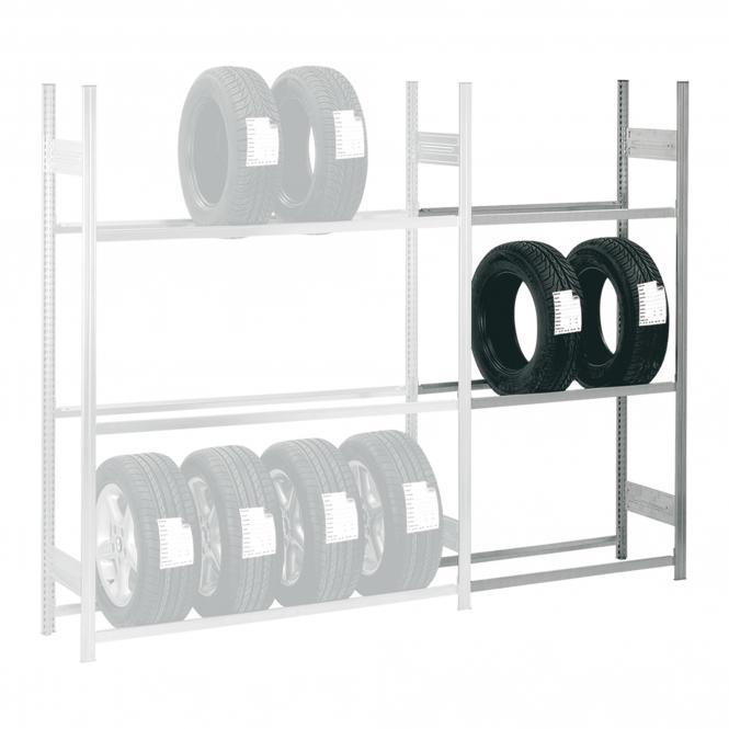 Anbauregale für Reifen und Räder | 2500 x 1000 x 400 mm