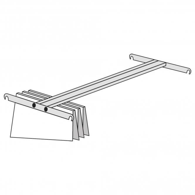 Pendelhefterschiene für Regale, 400 mm
