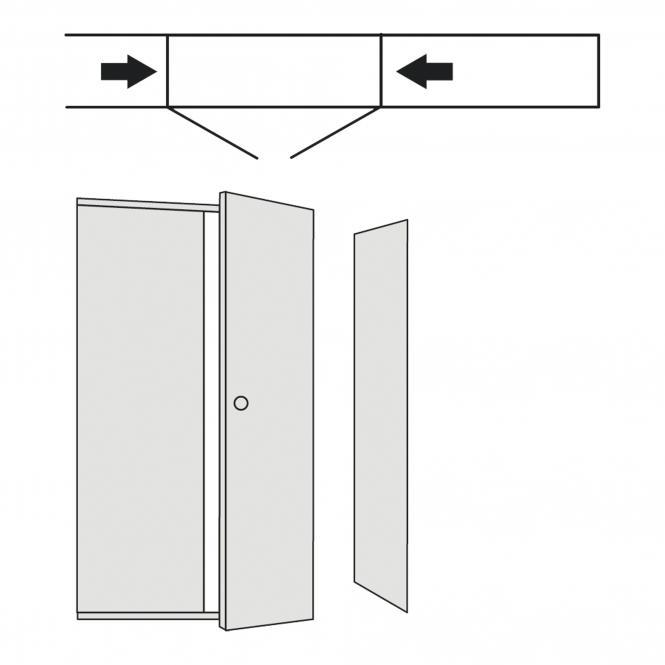 Türen-Anbausätze für Regale, 1900 mm