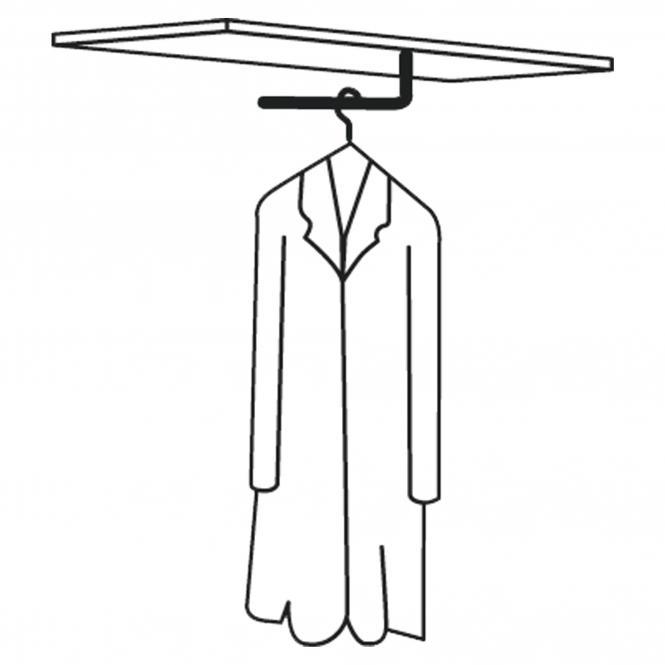 Garderobenstangen für Leer-Regale