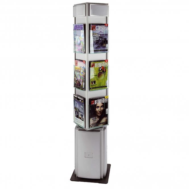 12er Brochure Stand, Rotating