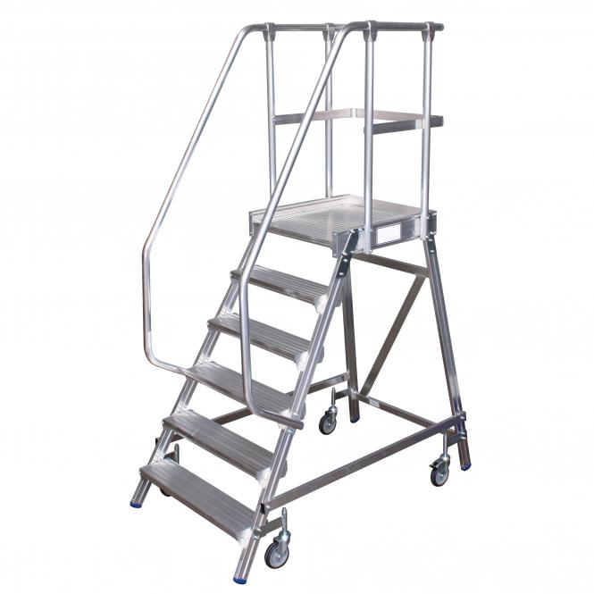 Platform Ladders, mobile, single sided access