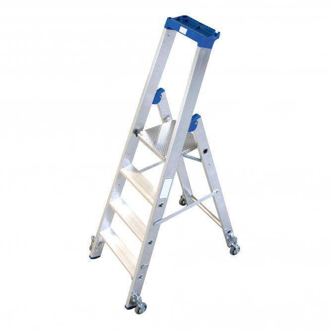 Stufen-Stehleitern, fahrbar