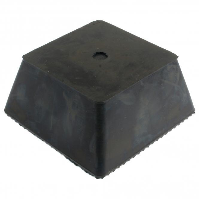 Gummi Trapezblock, universell mit Noppen | 70 x 150 x 150 mm