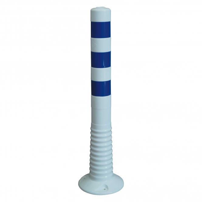 Flexipfosten, weiß-blau,