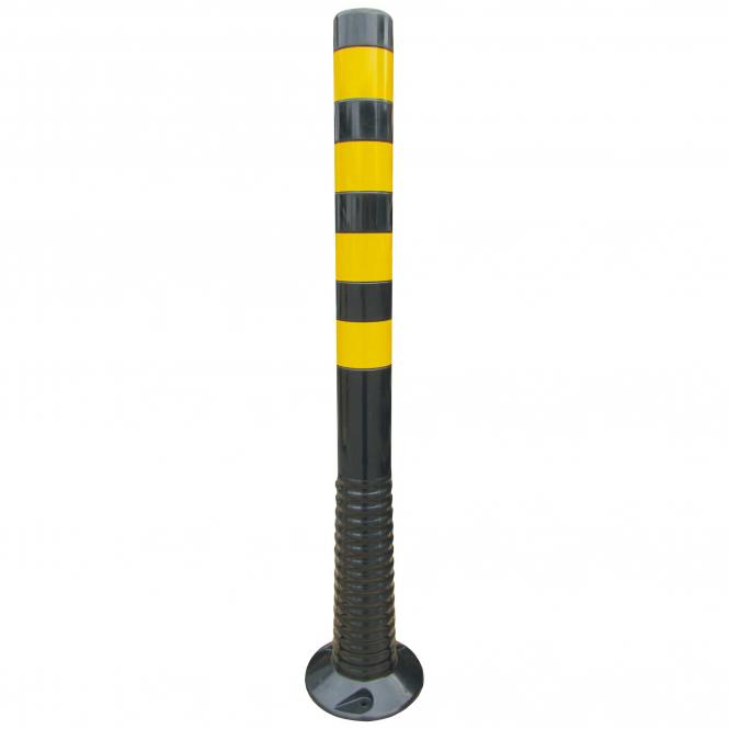 Flexipfosten  schwarz m. gelben Streifen