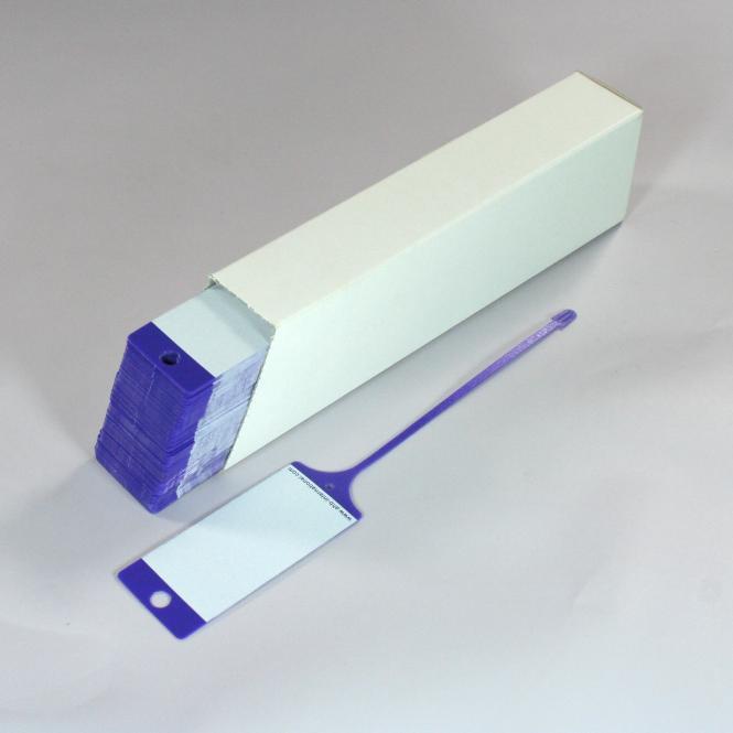 PP Key Tags, 100 piece   purple / white