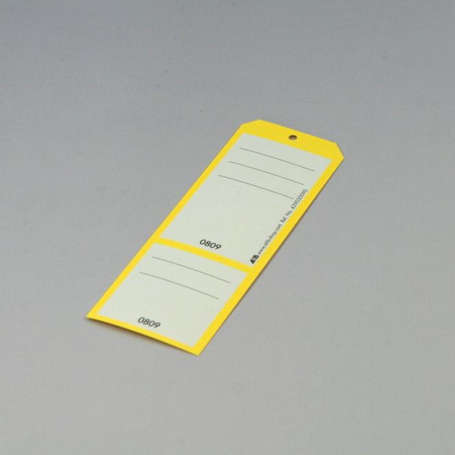 "Schlüsselanhängerboxen ""nummeriert & perforiert"", 250 Stück | 251-500 | fluoreszierend gelb"
