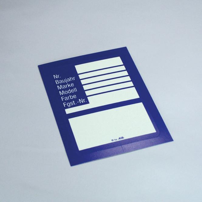 ID cards, 100 piece | blue