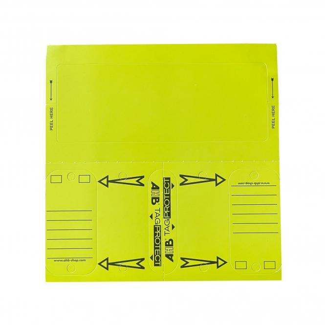 Standzeitkontroll-Sticker m. 300 Schlüsselanhänger, 150 Stück