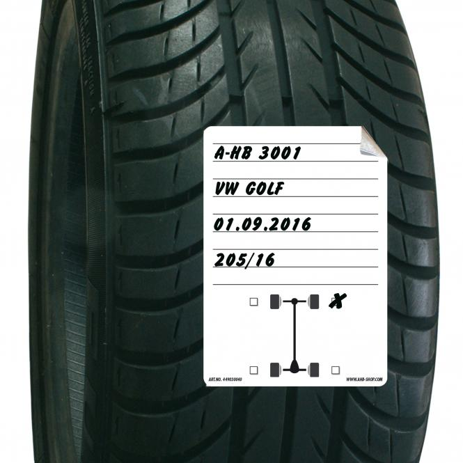 Tire Storage Stickers DIN A6, 100 piece