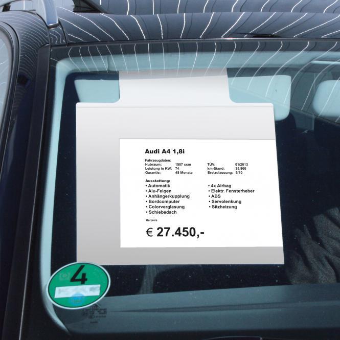 Sale Sheet Holder for Sunvisor | A4 SIZE | Landscape