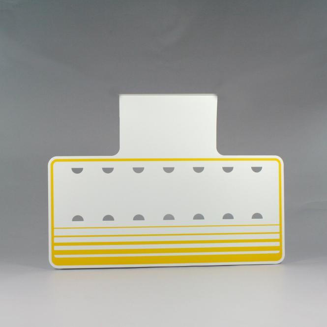 Verkaufsschilder im Großformat | gelb / weiß | einzeilig