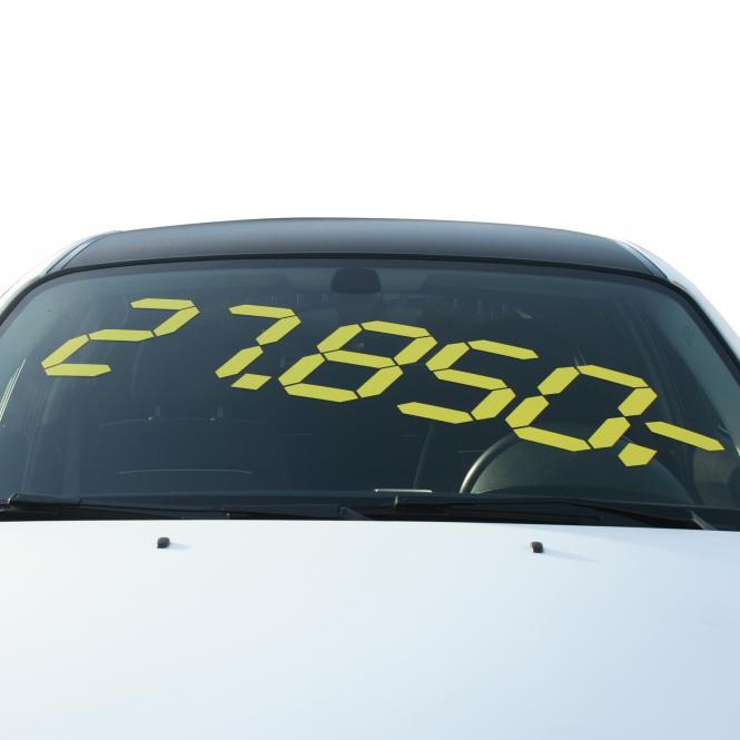 Digital Pricing, 10 piece | yellow | 1200 x 300 mm (W x H)