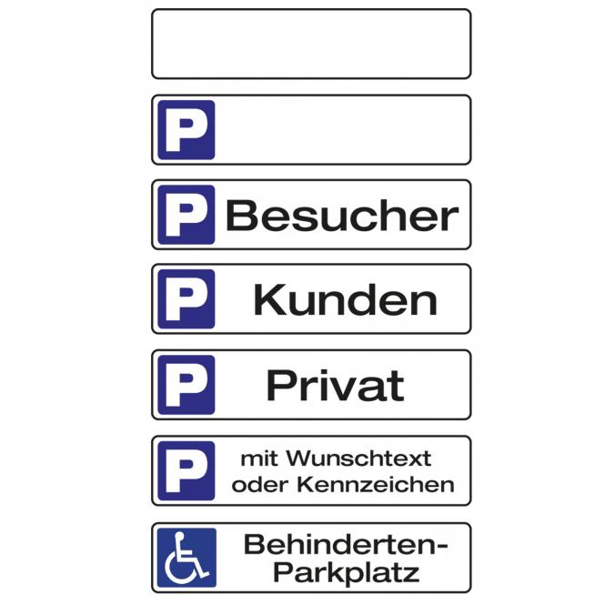Parkplatzschilder | mit Wunschtext oder Kennzeichen