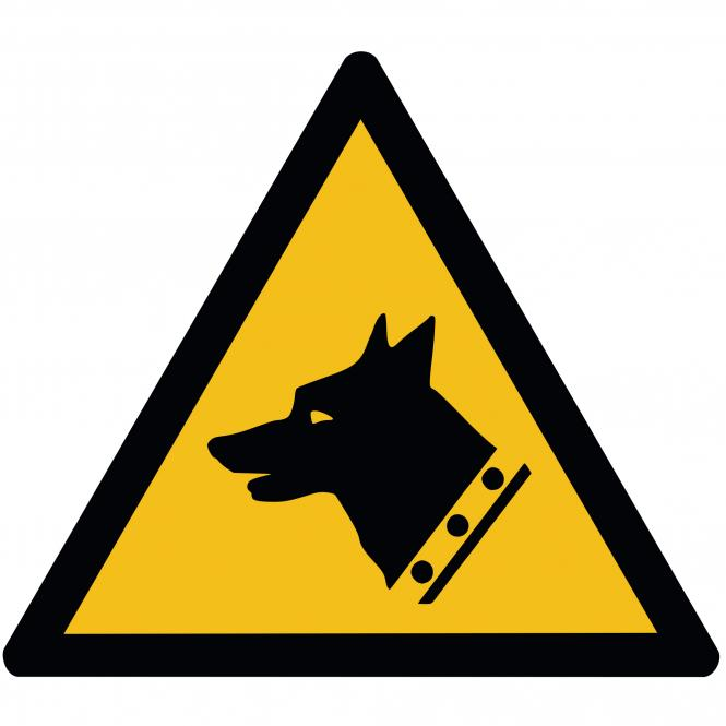 Warning Signs according to ASR A1.3 and DIN EN ISO | Warnung vor Wachhunden | Alu-Dibond
