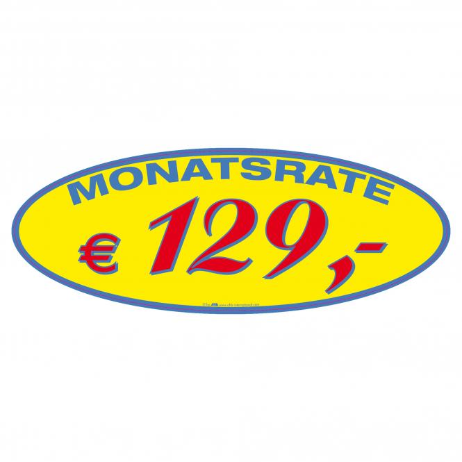 Monthly Rate Stickers | € 129 ,-