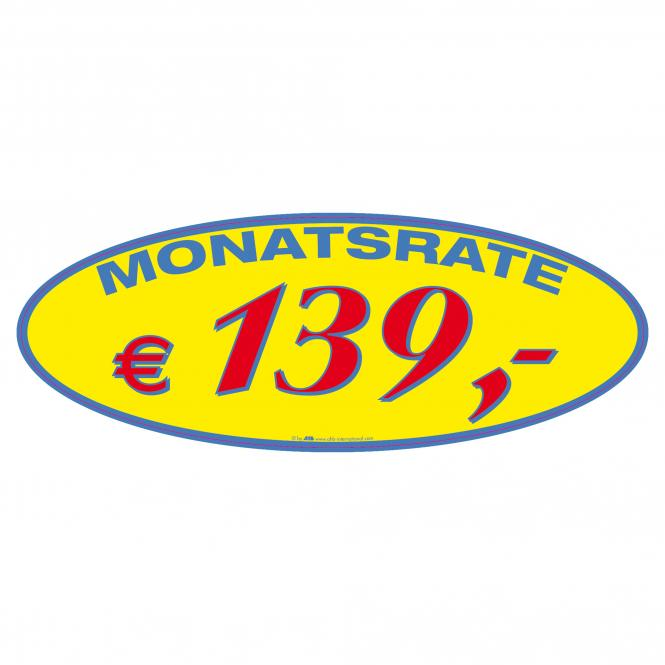 Monthly Rate Stickers | € 139 ,-