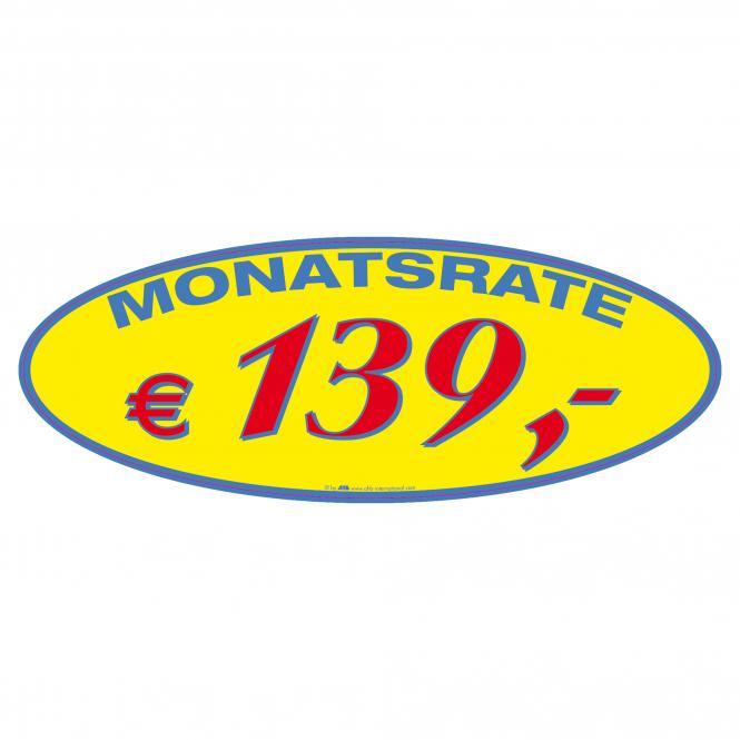 Monatsratensticker blau/gelb/rot | € 139 ,-